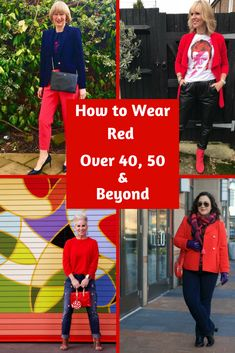 How to Wear Red Over 40, 50 & Beyond | Midlife Fashion Bloggers Rock the Red