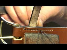 Stitching a Leather Belt Keep - YouTube