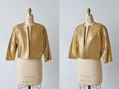 1960s Gold Cropped Jacket / Gold Lame Bolero by TheVintageMistress
