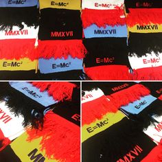 A nice bright order of Result supporters scarfs embroidered both ends! #scarf #embroidery