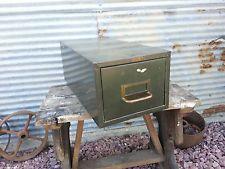 Single Drawer Metal File Cabinet-steampunk