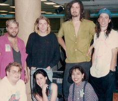 Kurt, Krist and Dave posing with some very lucky fans!!