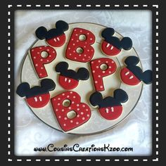 Mickey Mouse Cookies Custom Cookies by Cousin's Creations - Cousin's Creations