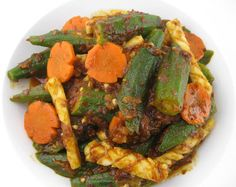 My Asian Kitchen: Stir-fry Spicy Okra with Squid