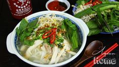 I'm finally sharing Chicken Pho, AKA Pho Ga recipe with you all! Thank you so much requesting and patiently waiting! :-D Chicken Pho is one of most popular Vietnamese noodle soup, Vietnamese Recipes, Asian Recipes, Ethnic Recipes, Vietnamese Food, Asian Foods, Chinese Recipes, Chicken Pho, How To Cook Chicken, Healthy Chicken