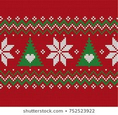 Knitted Christmas and New Year pattern Christmas Stocking Pattern, Christmas Knitting Patterns, Christmas Embroidery, Christmas Cross, Frozen Cross Stitch, Simple Cross Stitch, Cross Stitch Boarders, Cross Stitch Patterns, Stitch Doll