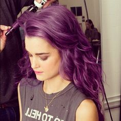 Violet hair - wonder if I could pull this off....