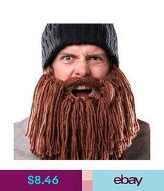 8609b3c74a2 Hats Men Women Funny Beard Hat Beard Wig Handmade Knit Warm Autumn Winter  Cap Pl6T