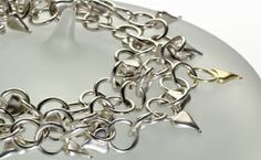 Thorn chain. Silver and Gold chain that will encircle your neck twice or wrist four times.
