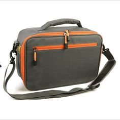 Nylon Fishing Lure Tackle Bag - Gray Orange ** More info could be found at the image url.