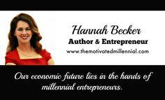 #millennial #entrepreneur #hannahbecker