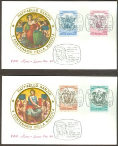 Vatican City Sc# 725-8: Birth of Raphel Sanzio on 2 FDC | eBay