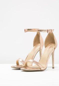Missguided Sandales à talons hauts - rose gold - ZALANDO.FR - 35€