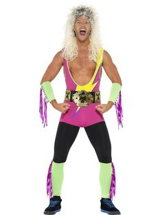 Adult Mens Wrestler Fancy Dress Up Costume Bodysuit Retro Male Outfit Unique Costumes, Cool Costumes, Adult Costumes, Halloween Costumes, Retro Party, Retro Costume, Costume Shop, Unique Outfits, Retro Outfits