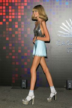 She looks like a barbie! When I'm a musician I'm going to wear stuff like this at my shows