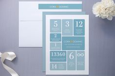 Wedding by Numbers Wedding Invitations by Ana Gonz
