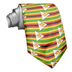 Flag of Zimbabwe Custom Ties
