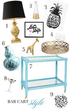 BAR CART STYLE : MadeByGirl blog: DESIGN