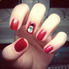 Snowman Accent Nails - Winter Christmas Nail Art