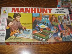 1972 Manhunt board game by Milton Bradley for parts or repair Awkward Family Photos Game, Rush Hour Game, Game Museum, Clue Games, Bored Games, Cops And Robbers, Modern Games, Vintage Board Games, Milton Bradley