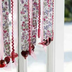 How to make a ribbon curtain