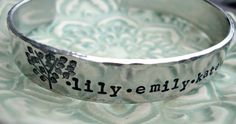 Hand Stamped Bracelet Personalized Bracelet by 3LittlePixiesShoppe, $21.00 So cute & affordable! Want one with Jude & Joel :)