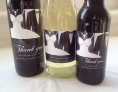 Wedding Thank you Wine, Champagne or Beer Bottle Labels, a great way to thank those that have helped you with your special day.
