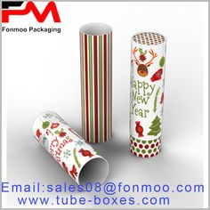 CMKY full-color printed Christmas paper tube packaging for candy or chocolate Round Gift Boxes, Gift Boxes With Lids, Box With Lid, Gift Box Packaging, Custom Packaging, Packaging Design, Box Manufacturers, Christmas Paper, Kraft Paper