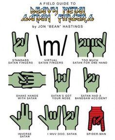 Heavy Metal Satan Fingers