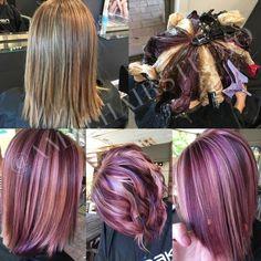 Pinwheel hair. Violet hair. Amai hair studio: