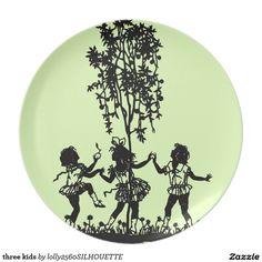 three kids plate