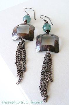 FascinationStreet B-handmade: Copper earrings/Orecchini in rame - Cornice -