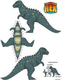 Um tiranossauro para montar.