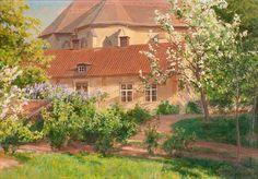 Johan Krouthén (1859-1932): Vy över domkyrkan, 1907