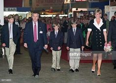 Arriving At The Royal Tournament With Prince William, Prince Harry , Their Friend And Police Bodyguard