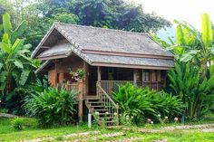 Cottage Style House Plans, Bungalow House Design, Small House Plans, Filipino Architecture, Timber Architecture, Rest House, House In The Woods, Cabana, Jungle House