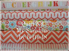 My Sunshine Rag Quilt Kit Easy to Make Personalized by beffie48