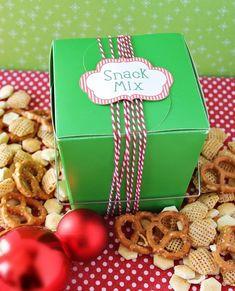 Homemade Gift Idea – Savory Snack Mix