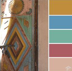 palette, colore, porta, arredamento, decorazioni, tendenze, stili, ispirazione