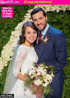 Jinger Duggar Stuns In Official Wedding Photo With Soccer Player Jeremy Vuolo