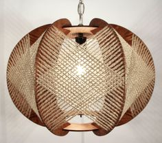 Handcrafted Wood Light Fixture by LuxAndWatts on Etsy, $199.00