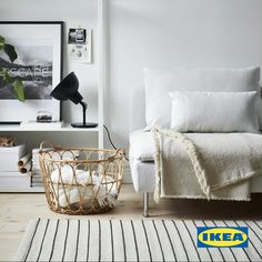 grey living room ideas ikea ideas interior design for living roo Black Sofa, White Sofas, Casas En Atlanta, Black Bedroom Design, Getting Organized At Home, Ikea Living Room, Ideas Hogar, Black Lamps, Organizing Your Home