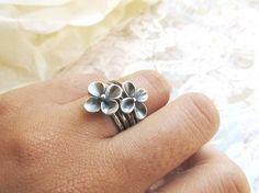 Sterling Silver Ring Metalwork stackable by PrettyThingsGalore, $156.00