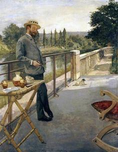An Elegant Man On A Terrace by Henri Gervex