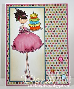 Ava Loves to Celebrate card - image from Stamping Bella
