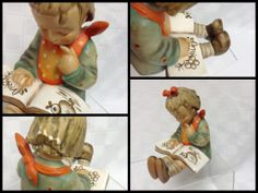 "4 Ladies & More Consignment Boutique - Authentic Hummel Figurine ""Little Girl Reading"", $78 (https://www.facebook.com/pages/4-Ladies-More-Consignment-Boutique/179205538782156)"