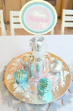 WINTER Onederland or Birthday party  4 inch by KROWNKREATIONS, $3.99