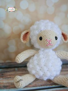 Amigurumi lamb, usually knitted with white thread, can be shown as one of the beautiful knitting patterns that can be preferred for ornamental decoration. Again, as with all amigurumi varieties, it is Single Crochet, Crochet Baby, Knit Crochet, Bobble Stitch, Slip Stitch, Crochet Patterns Amigurumi, Knitting Patterns, Doll Patterns, Hello Kitty