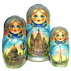 Saint Petersburg 10 Piece Nesting Doll Babushka