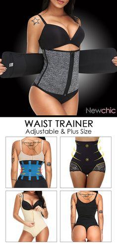 12b3a3afcc1 Plus Size Control Sports Zipper Adjustable Waist Trainer for Women